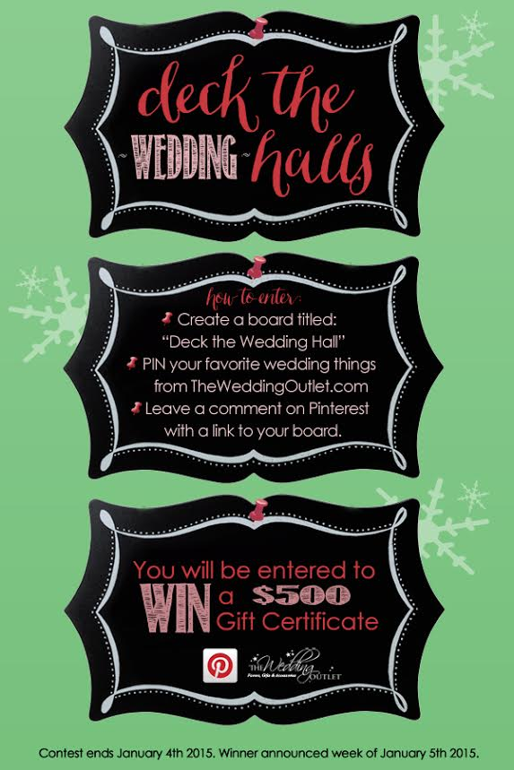Pin Your Favorite Wedding Things from The Wedding Outlet and Win a $500 Gift Certificate / as seen on www.BrendasWeddingBlog.com