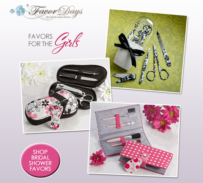 Pampering Bridal Shower Favors / Manicure and Pedicure Favor Sets / as seen on www.brendasweddingblog.com
