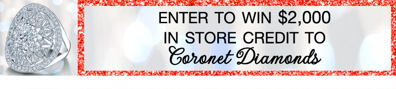Enter to win $2,000 in Coronet Diamonds / as seen on www.brendasweddingblog.com