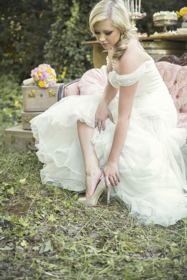 Pretty Bride from a Rustic Garden Wedding Photo Shoot / by D'Love Affair Weddings & Events / photo by L'Estelle Photography / as seen on www.BrendasWeddingBlog.com