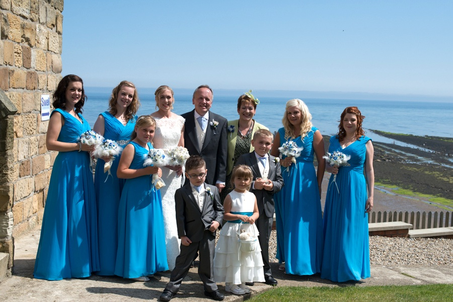 The Wedding Party at the Seaside Wedding in the UK | photo by Tracey Ann Photography / as seen on www.BrendasWeddingBlog.com