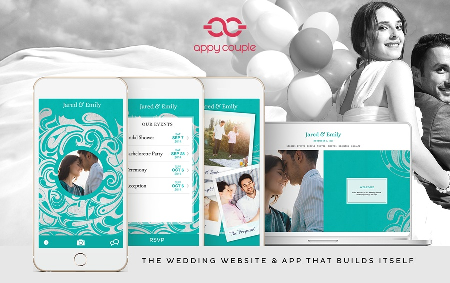 Appy Couple is the Wedding Website and App that Builds Itself / see all the details on www.BrendasWeddingBlog.com