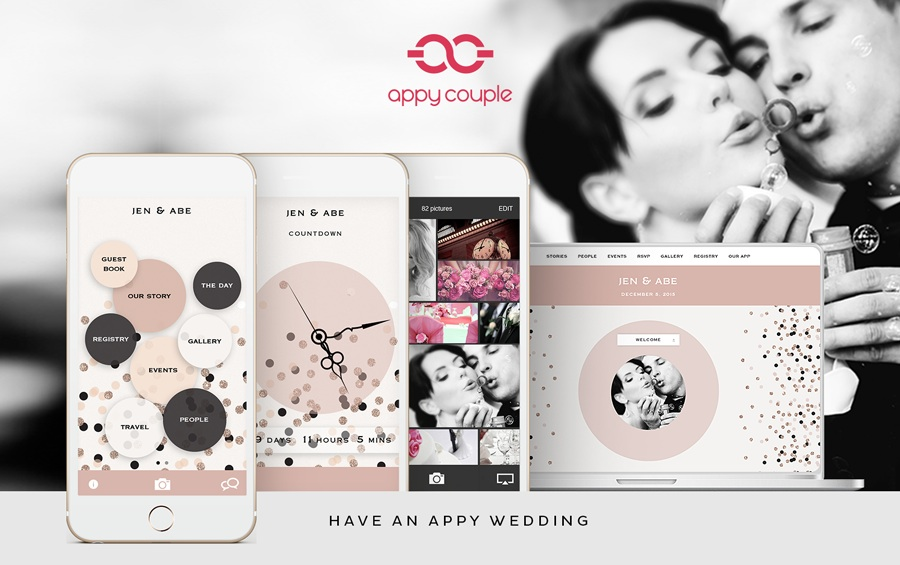 A Beautifully Designed and Amazingly Stylish wedding planning tool - come read all about Appy Couple on www.BrendasWeddingBlog.com {it's a wedding website & app in One}