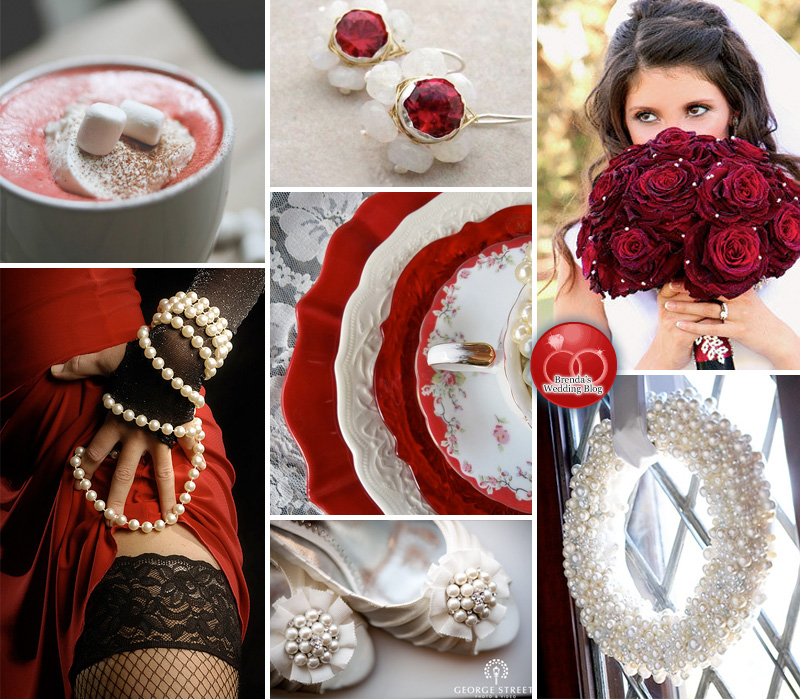 Seductive Red Valentine's Day Wedding Inspiration Board / as seen on www.BrendasWeddingBlog.com