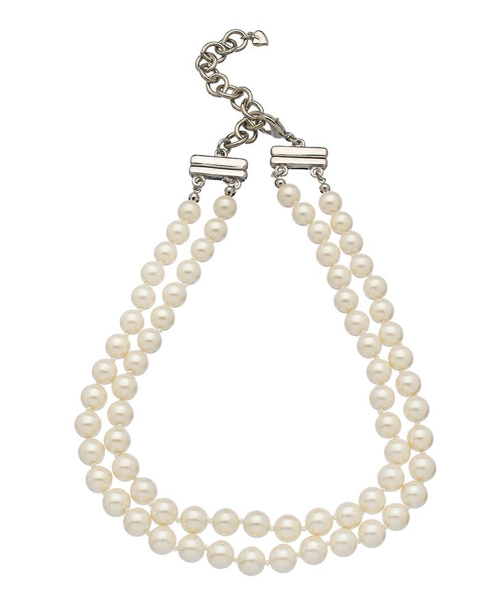 2 Strand Silver and Pearl Necklace - perfect pearls on the wedding day accessory / as seen on www.BrendasWeddingBlog.com