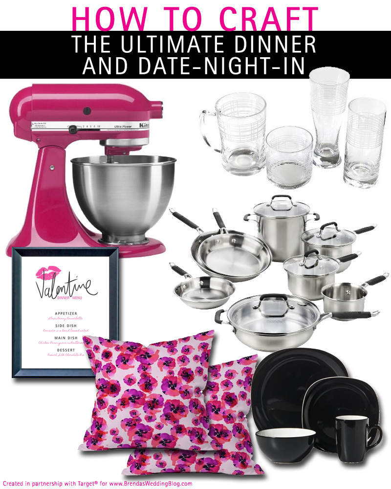 Creating the Ultimate Dinner and Date-Night-In with the Target Wedding Registry Program / as seen on www.BrendasWeddingBlog.com