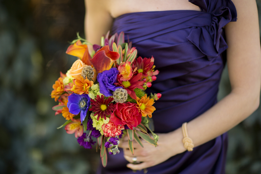 Stunning Bridesmaid Bouquet from a Fall Wedding in Ohio / photo by Morgan Lindsay Photography / as seen on www.BrendasWeddingBlog.com