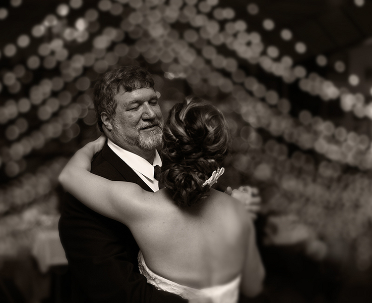 Father and Daughter Wedding Dance - always more emotional when in black and white / photo by Morgan Lindsay Photography / as seen on www.BrendasWeddingBlog.com