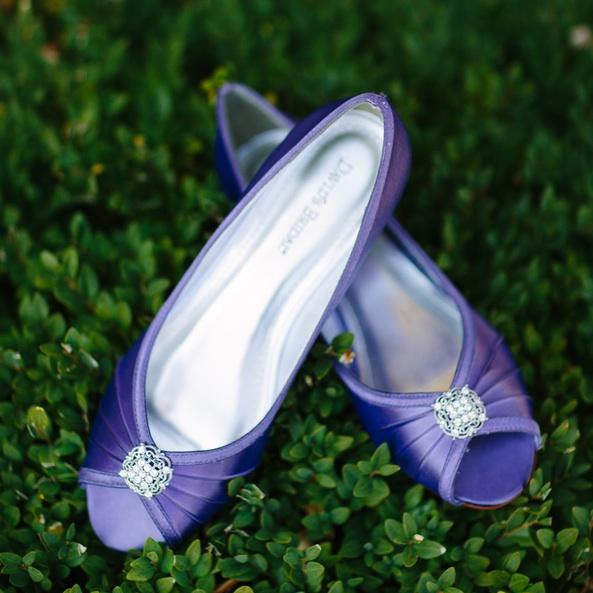 Purple Wedding Shoes from David's Bridal / photo by Morgan Lindsay Photography / as seen on www.BrendasWeddingBlog.com