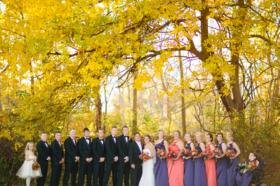 The Wedding Party for a Fall Wedding / photo by Morgan Lindsay Photography / as seen on www.BrendasWeddingBlog.com