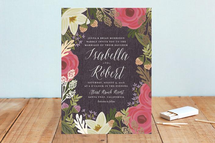 Rhapsody Foil-Pressed Wedding Invitations / as seen on www.BrendasWeddingBlog.com