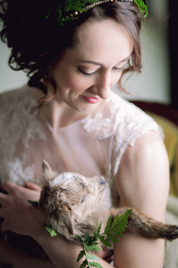 A Spring Inspired Wedding with a Sweet Goat / photo by Corey Lynn Tucker Photography / as seen on www.BrendasWeddingBlog.com
