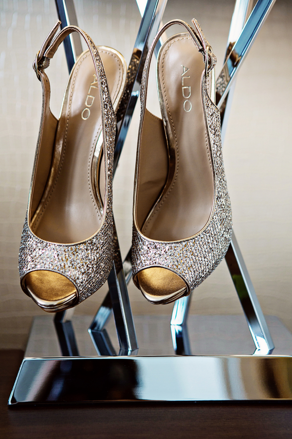 Sparkly Aldo Wedding Shoes / photo by Emily Gualdoni Photography / as seen on www.BrendasWeddingBlog.com