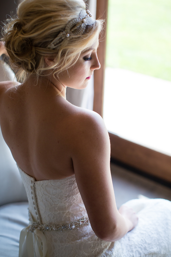 Beautiful Bridal Portrait with a Beaded Headwrap / photo by Ashley Cook Photography / as seen on www.BrendasWeddingBlog.com
