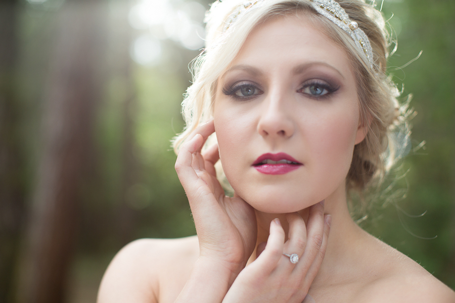 Gorgeous Bride with Makeup by Reina / photo by Ashley Cook Photography / as seen on www.BrendasWeddingBlog.com