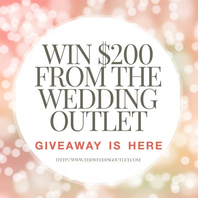 Instagram #WeddingGiveaway - Enter to Win $200 from The Wedding Outlet / as seen on www.BrendasWeddingBlog.com