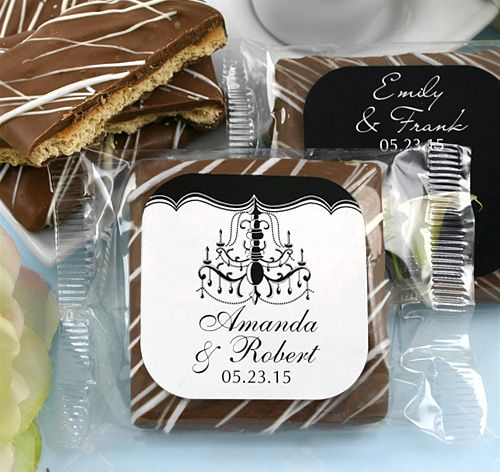 Personalized Chocolate Graham Cracker Wedding Favors