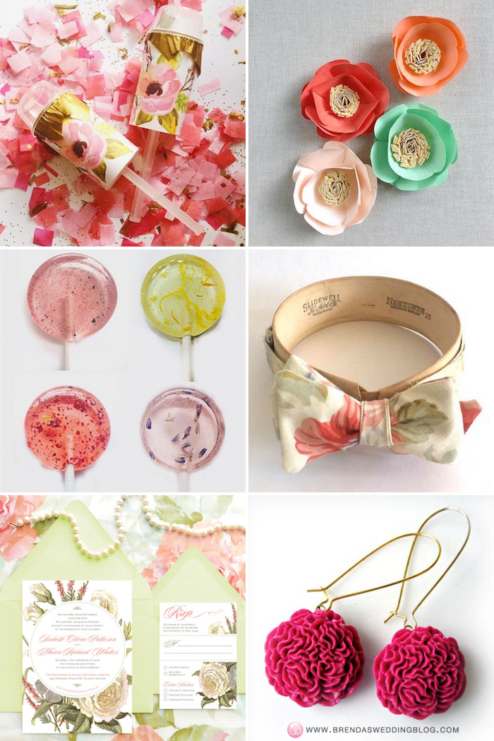 handmade Spring Wedding Ideas with Flowers / as seen on www.BrendasWeddingBlog.com