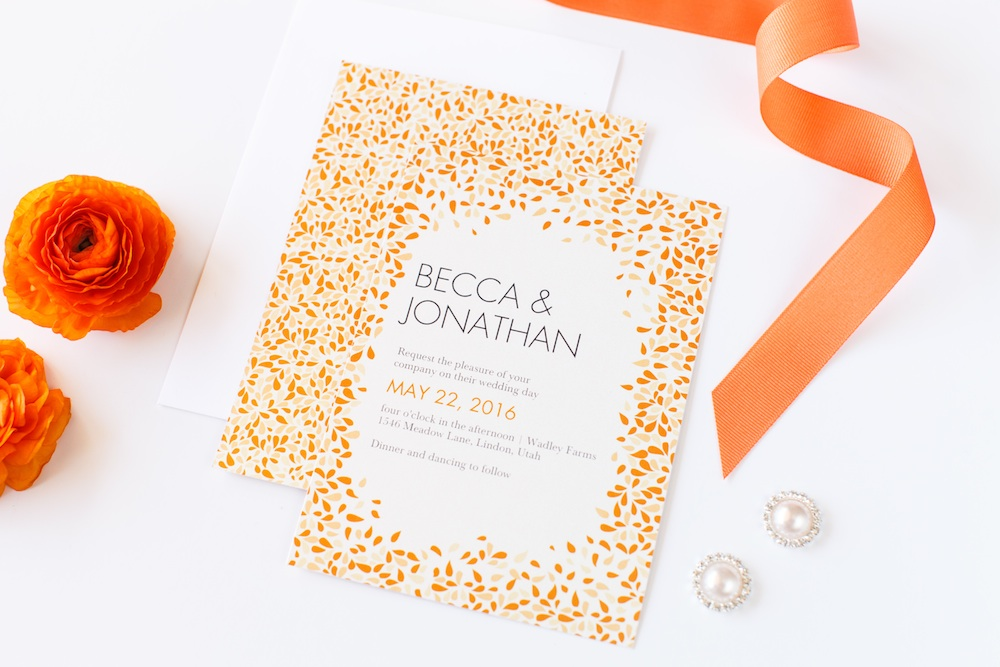perfect for summer weddings - Precious Petals Wedding Invitation from Shutterfly / as seen on www.BrendasWeddingBlog.com
