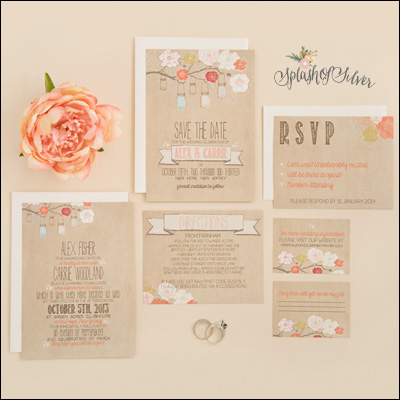 Splash of Silver Stationery