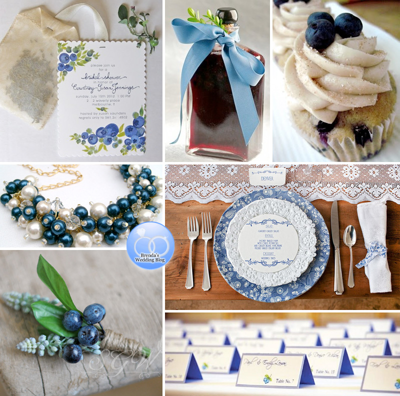 Blueberry Wedding Inspiration for Bridal Showers and Weddings / as seen on www.BrendasWeddingBlog.com