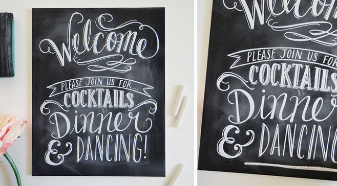 Chalkboard Wedding Sign from Lily & Val