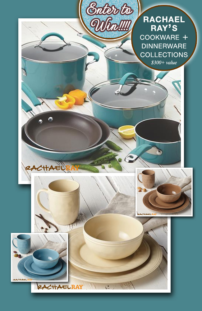 Enter to Win the Rachael Ray cucina cookware (12 piece} and dinnerware collection {service for 8} on www.brendasweddingblog.com {over $300 value}