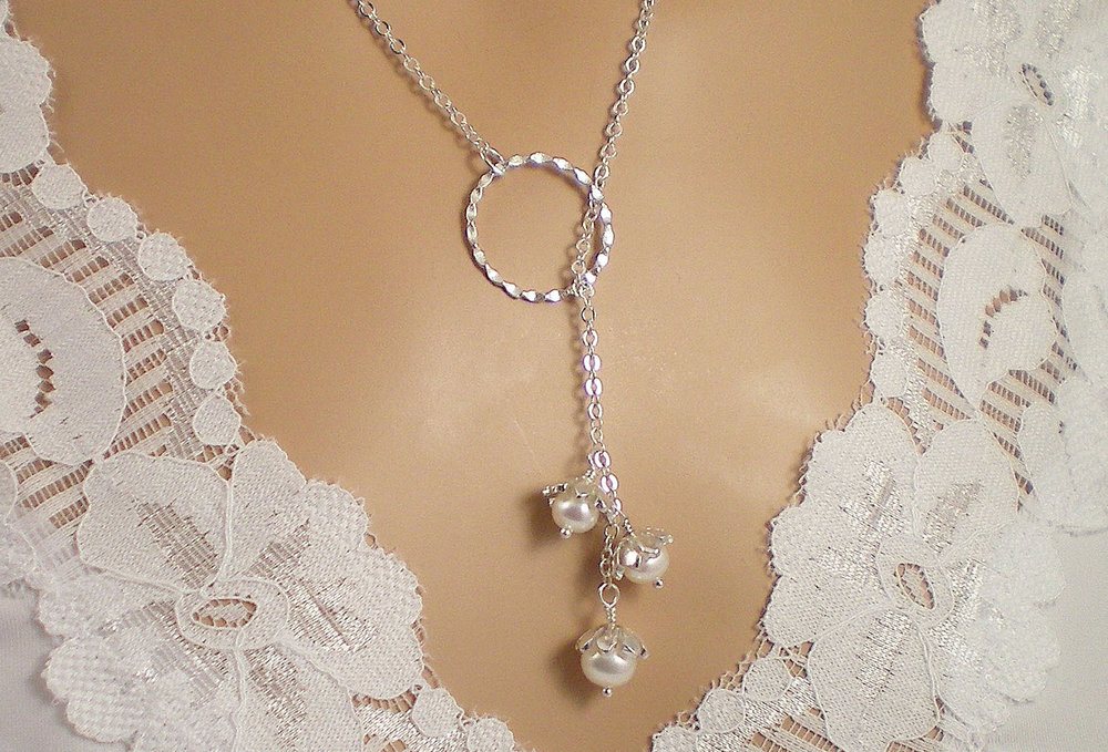 Lily of the Valley Sterling Silver Eternity Circle Lariat from Something Shiny 101