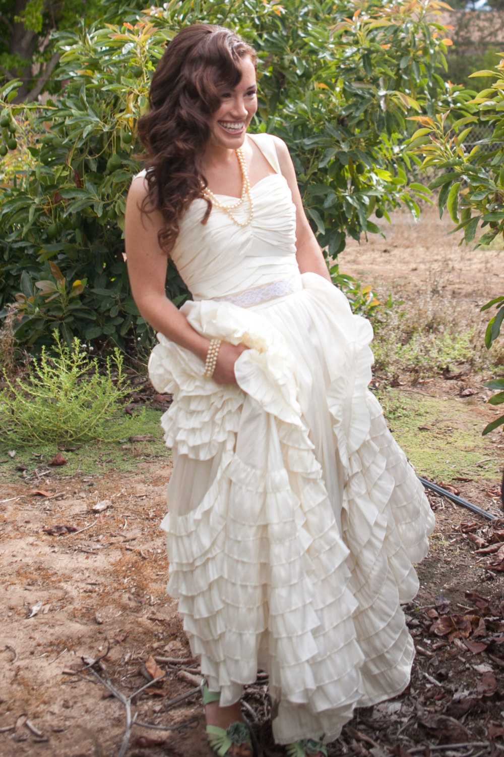 Spanish Boho Ruffled Wedding Dress / as seen on www.BrendasWeddingBlog.com