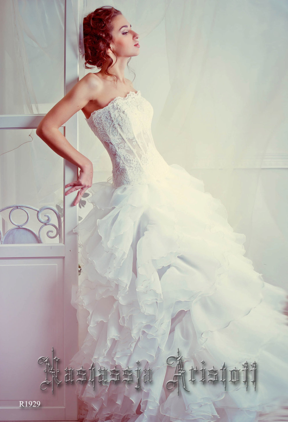 Romantic Ruffled Wedding Dress from Aristoff / as seen on www.BrendasWeddingBlog.com