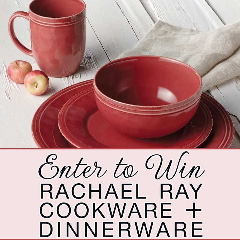 You could be the lucky winner of Rachael Ray's Cucina Collection of Cookware and Dinnerware / enter at www.BrendasWeddingBlog.com