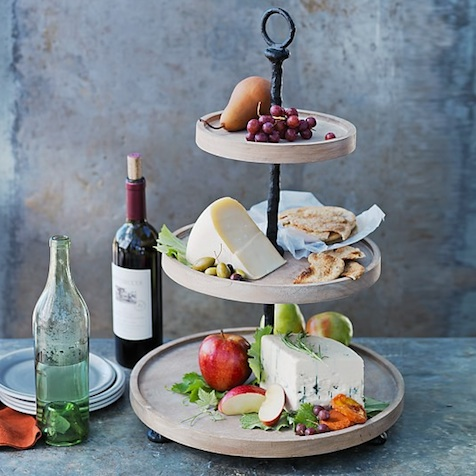 Wedding Gift Idea : Make a bold statement with this simple, but stunning tiered server