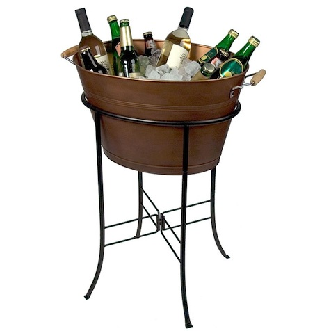Keep the drinks chilly and the guests happy with the Artland Oasis Copper Oval Party Tub