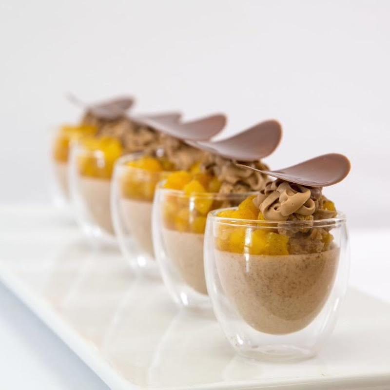 Pretty Presentation of Double Glasses Topped with Chocolate Wafers  from Restaurantware