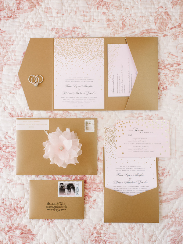 Pink Wedding Invitations + Kraft Paper by Wedding Paper Divas : photo by Pasha Belman Photography