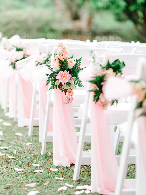 Pretty Outdoor Southern Wedding Ceremony Seating : photo by Pasha Belman Photography