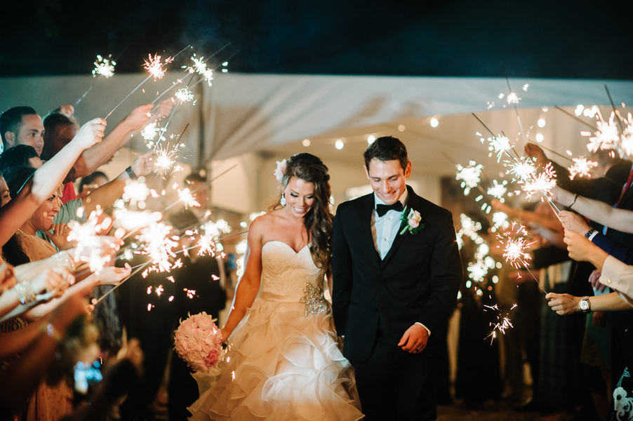 A Sparkler Send-Off for this Couples Southern Wedding : photo by Pasha Belman Photography