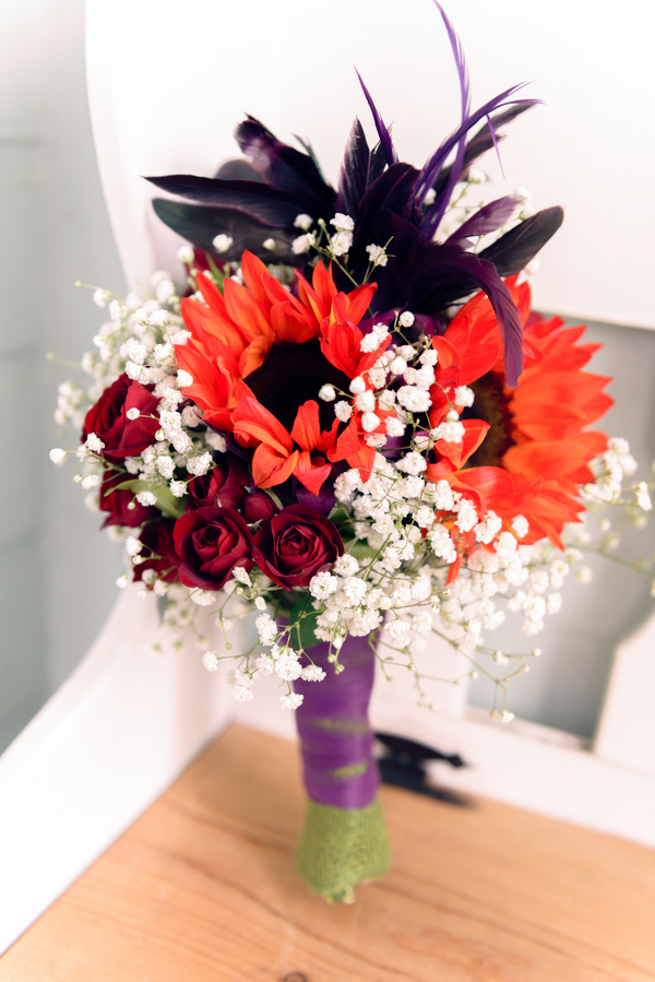Pretty Bridal Bouquet from an Outdoor Colorado Wedding / photo by Annabelle Denmark Photography