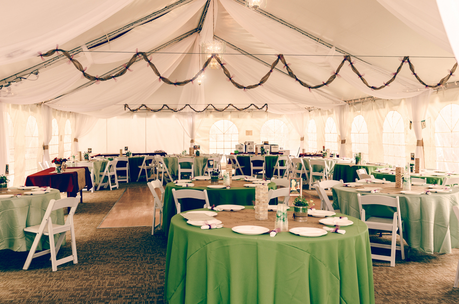 Colorado Wedding Tented Reception / photo by Annabelle Denmark Photography
