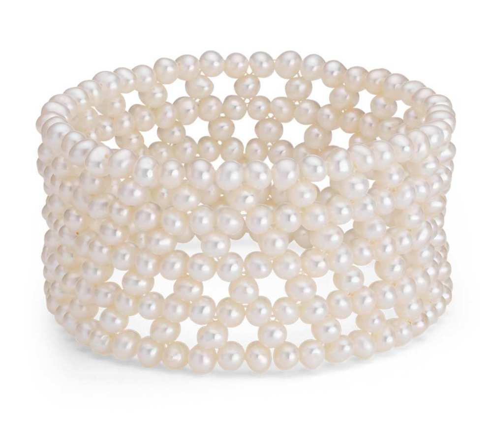 freshwater cultured pearl cuff bracelet, $65