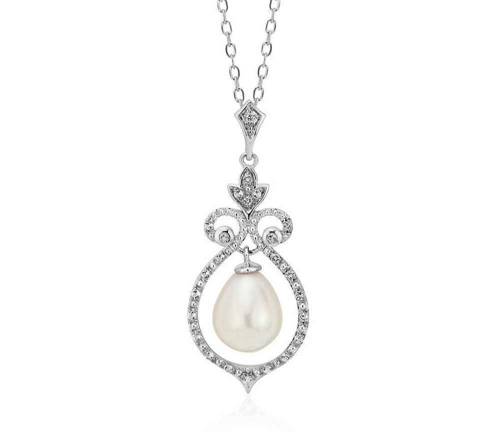 vintage-inspired freshwater cultured pearl pendant, $145