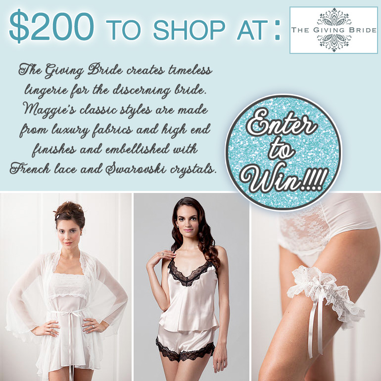 Enter to Win $200 in Timeless Lingerie from The Giving Bride