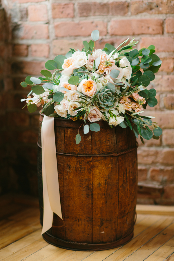 Lush Oversize Bridal Bouquet that's Soft + Neutral from Wallflower Designs / photo by Maggie Fortson Photography