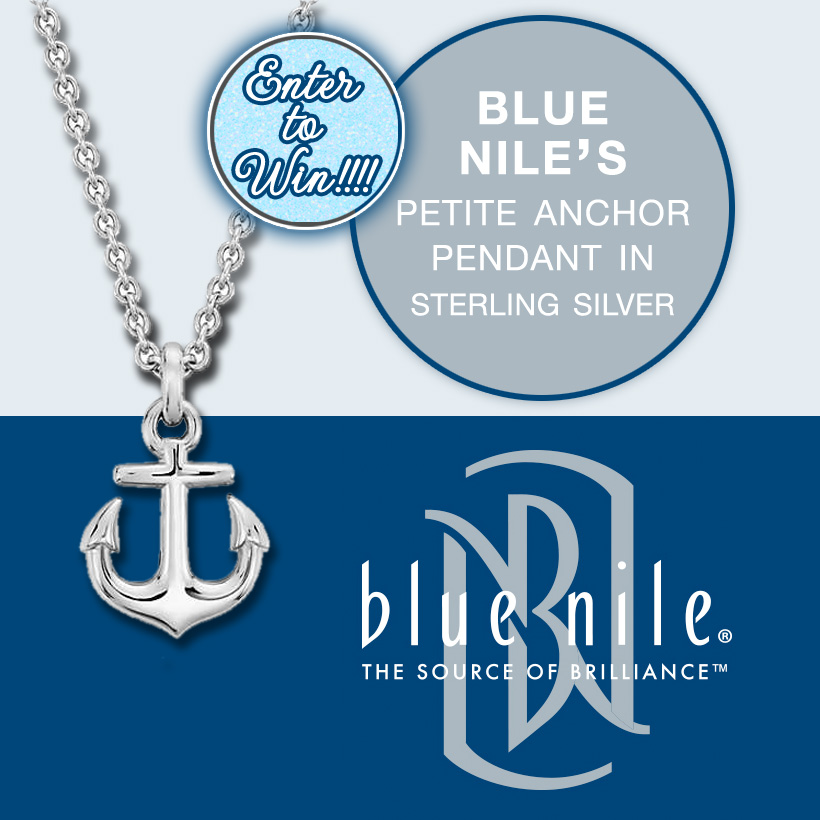 Giveaway Time : Enter to Win a Petite Anchor Pendant in Sterling Silver for your Summer Parties from Blue Nile