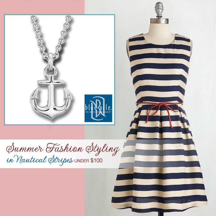 Summer Weddings : Fashion Styling in Nautical Stripes for Under $100