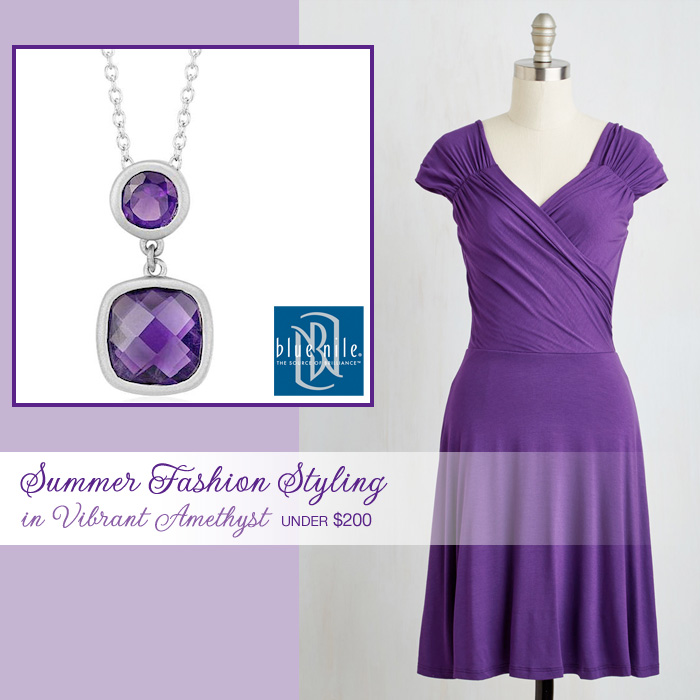Summer Weddings : Fashion Styling in Vibrant Amethyst for Under $200