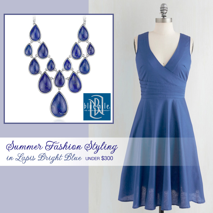 Summer Weddings : Fashion Styling in Lapis Bright Blue for Under $300