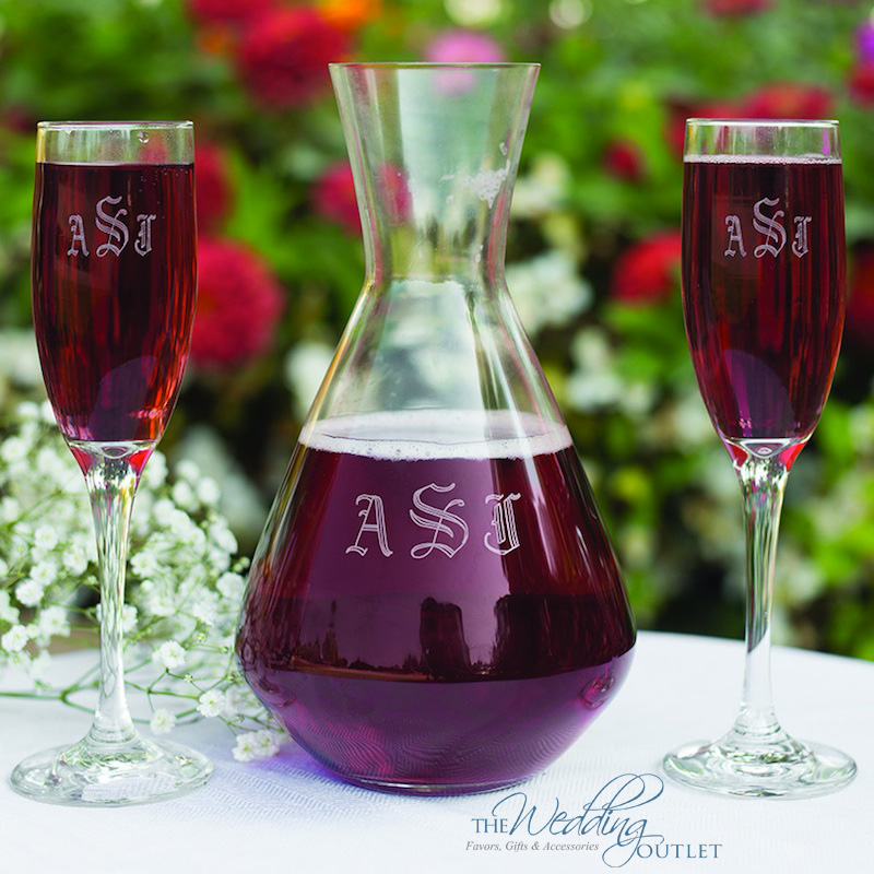 Create a Personalized Wedding Ceremony with a Decanter Wine Ceremony Set {from The Wedding Outlet}