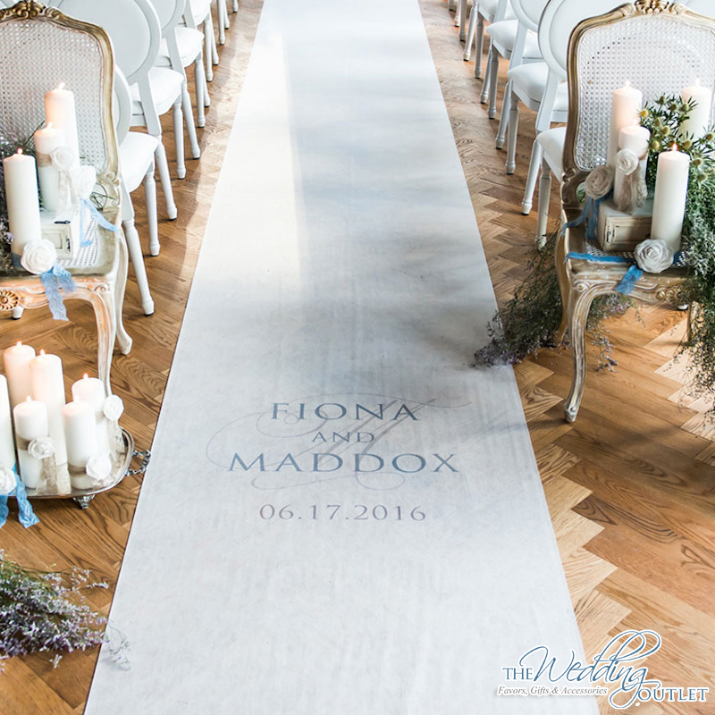Create A Personalized Wedding Ceremony with a Customized Aisle Runner / from The Wedding Outlet
