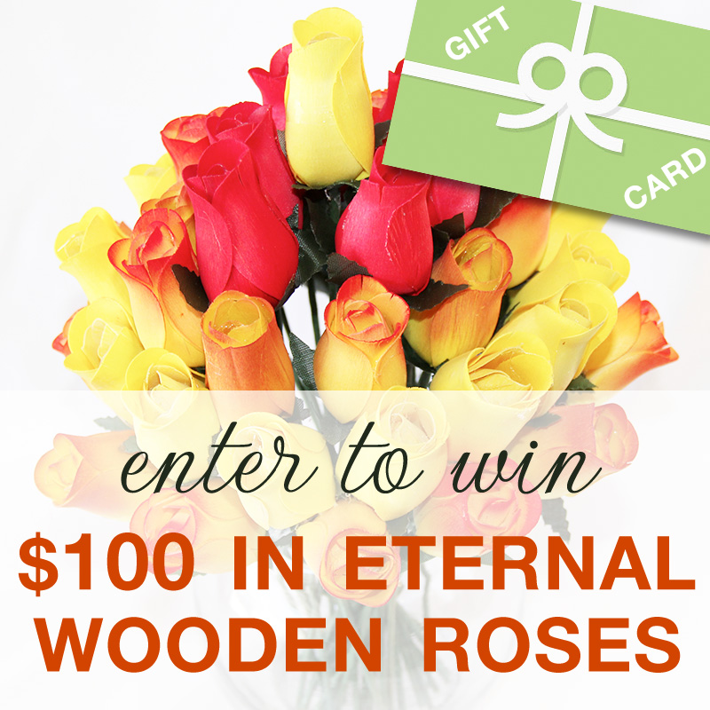 $100 in Eternal Wooden Roses Could Be Yours - Enter to Win